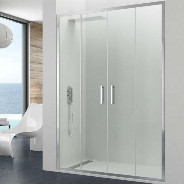 resguardo de duche frontal 2f 2d modelo prestige spazio asealia. Black Bedroom Furniture Sets. Home Design Ideas